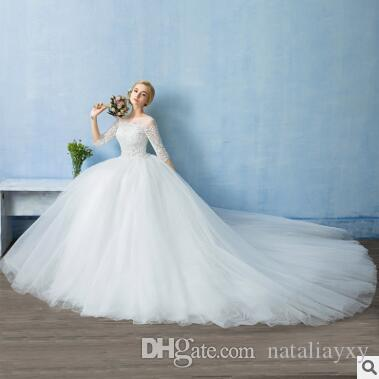 Wedding Dress 2017 Autumn And Winter New Korean Word, Shoulder Lace ...