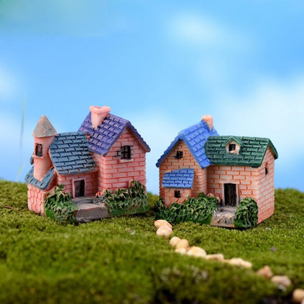 Best Handmade Diy Resin Crafts Stone House Moss Miniature Landscape ...