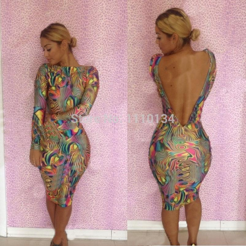 New 2014 Sexy Bandage Dress Bodycon Empire Waist Print Club Dress ...
