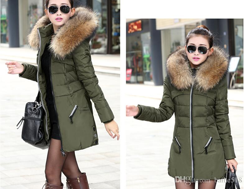 Discount New 2017 Winter Women Jacket Coat Thicken Slim Female Fur ...