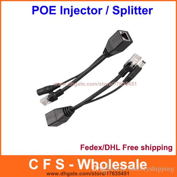 Power over Ethernet PoE Adapter Injector + Splitter Kit Fedex / DHL Free Shipping
