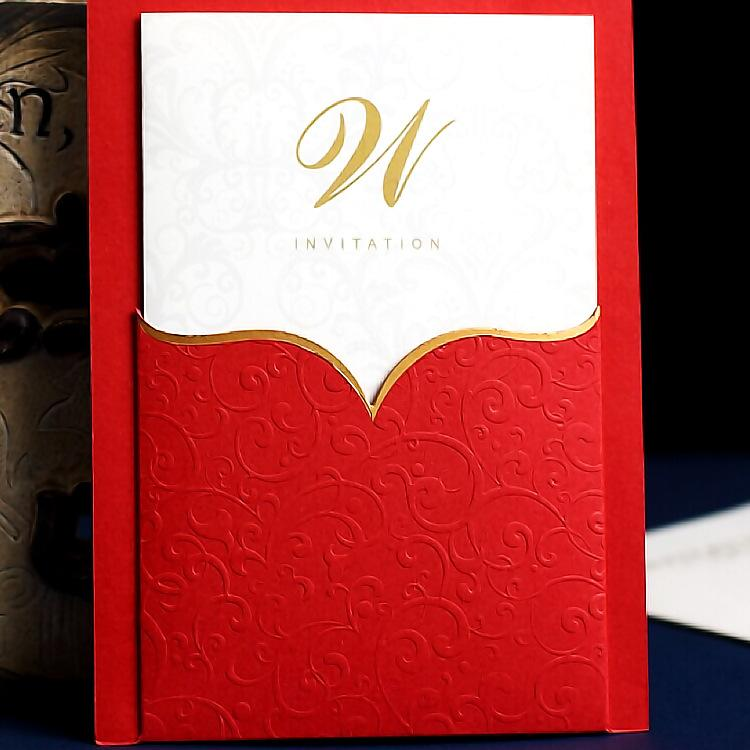 Factory Wholesale Red Wedding Invitations Creative Business