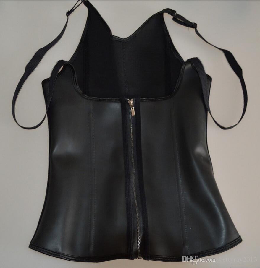 2016 Fashion zip & 3 Hook eye Latex Waist Trainer Body Shaper Push Up Corset and Bustier Workout Sport Waist Training Womens Slimming Vest