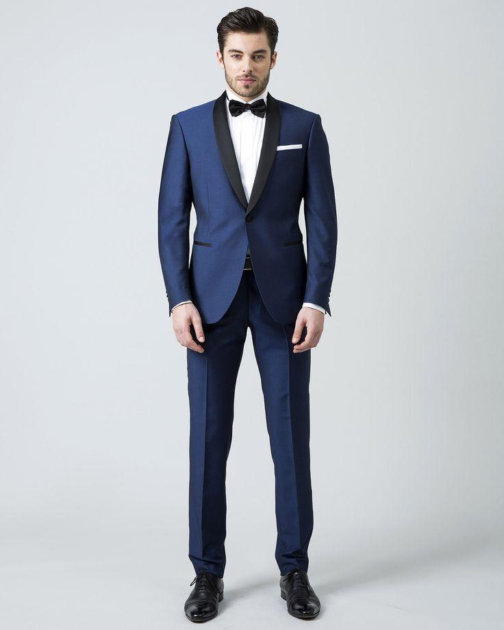 men suits blue wedding suits for men black shawl lapel tuxedos for men one button groom wedding. Black Bedroom Furniture Sets. Home Design Ideas