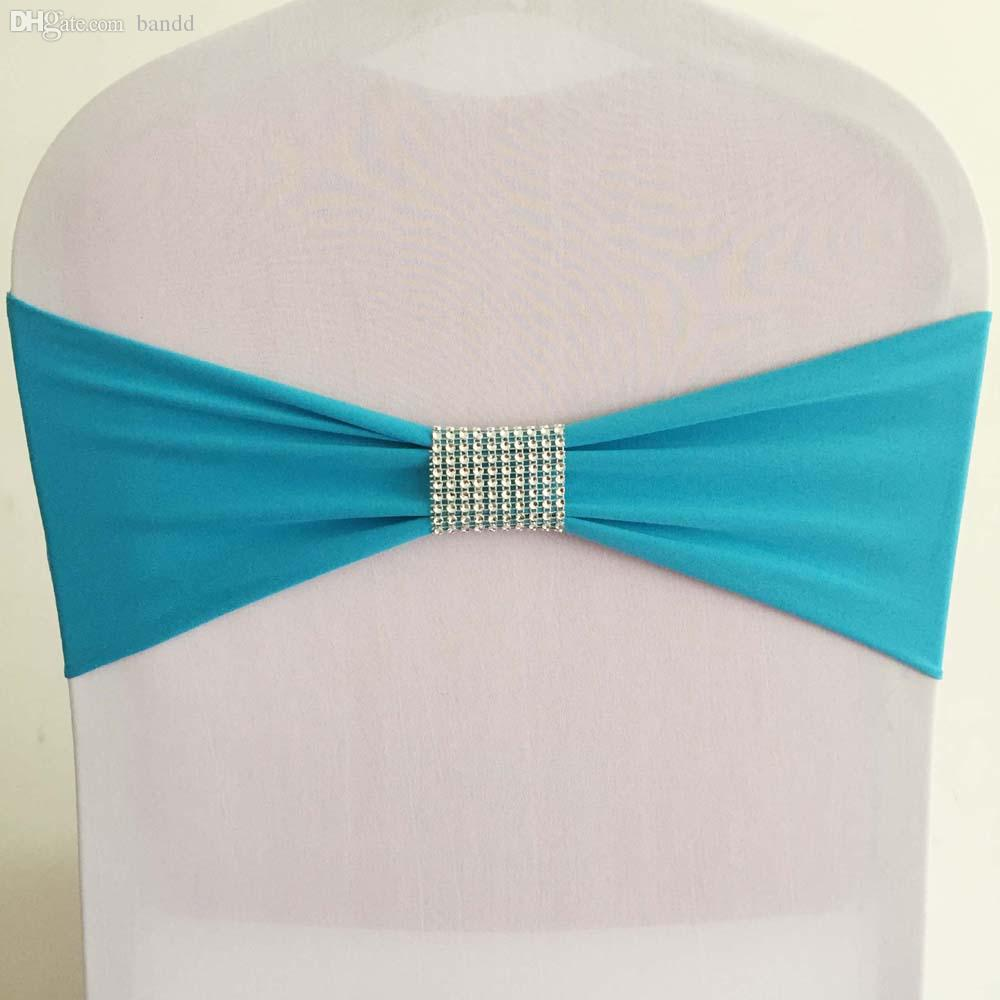 Wholesale Turquoise Lycra Stretch Spandex Chair Sash Bands