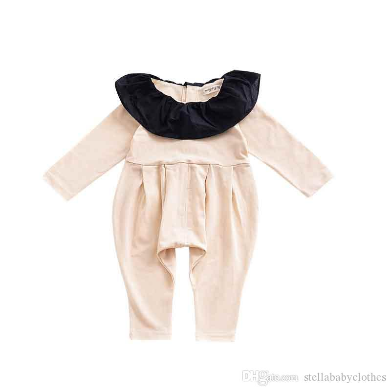 1c1bd0ede26c 2019 New Style Fall Winter Baby Girls Boy Romper Fashion Ruffle Collar Infant  Jumpsuit Fashion Children Boutique Clothing Hot Sales From  Stellababyclothes