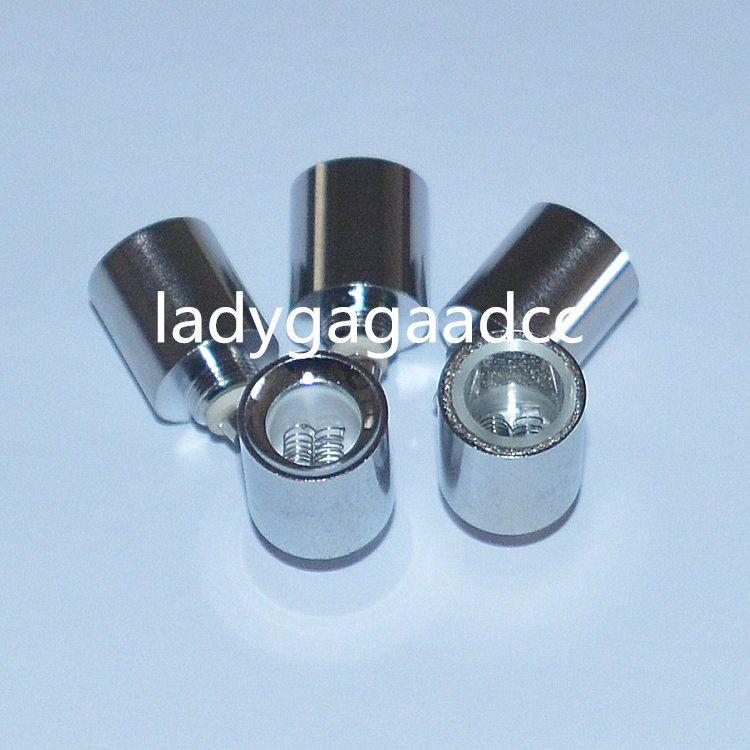 2016 NEW Dual Quartz wax dry herb coil Quartz Tube Coil for cannon vase bowling atomizer glass globe atomizer wax dry herb Atomizer Ecig