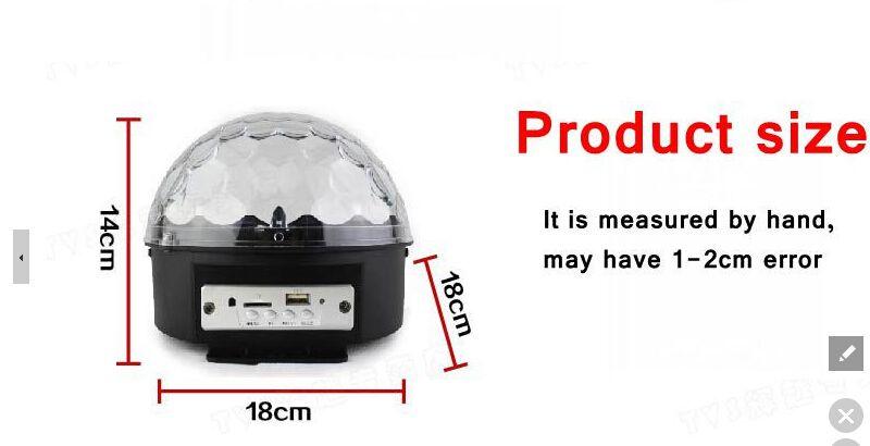 mp3 magci palla led sfera magica di cristallo / telefono cellulare bluetooth / u disco / scheda SD led cristallo sfera magica luce / casa festa ufficio luce