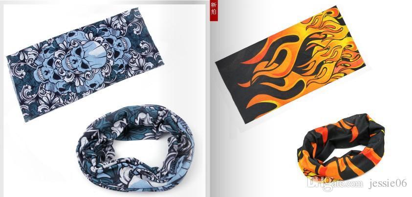 Bandanas Headwear Magic multifonctionnel sans couture multifonction Outdoor Head écharpe cyclisme hip-hop absorbant ultraviolet-résistant 50 * 24 cm