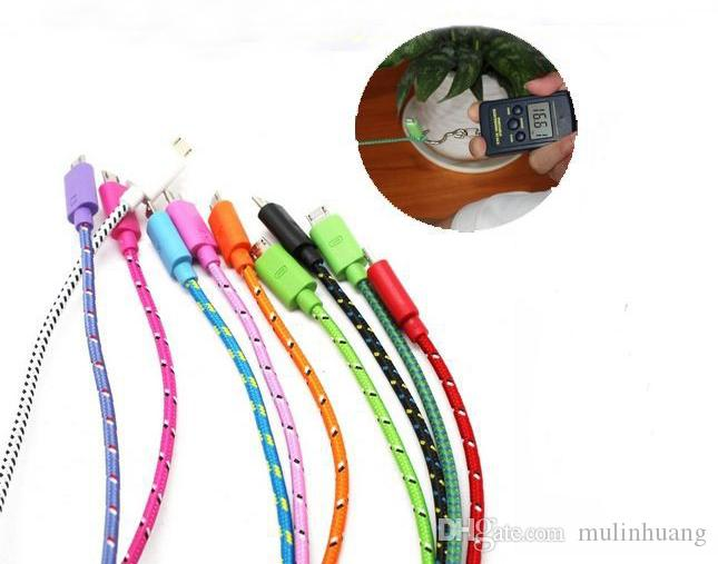 1M 3FT Extension USB Fiber Braided Data Charger Cable Extra Long Fabric Knit Charging Cord Lead For Samsung V8 MQ300