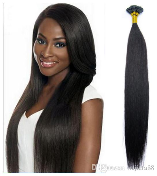 The Natural Color Man Pre Bonded Hair Extensions Brazilian 100