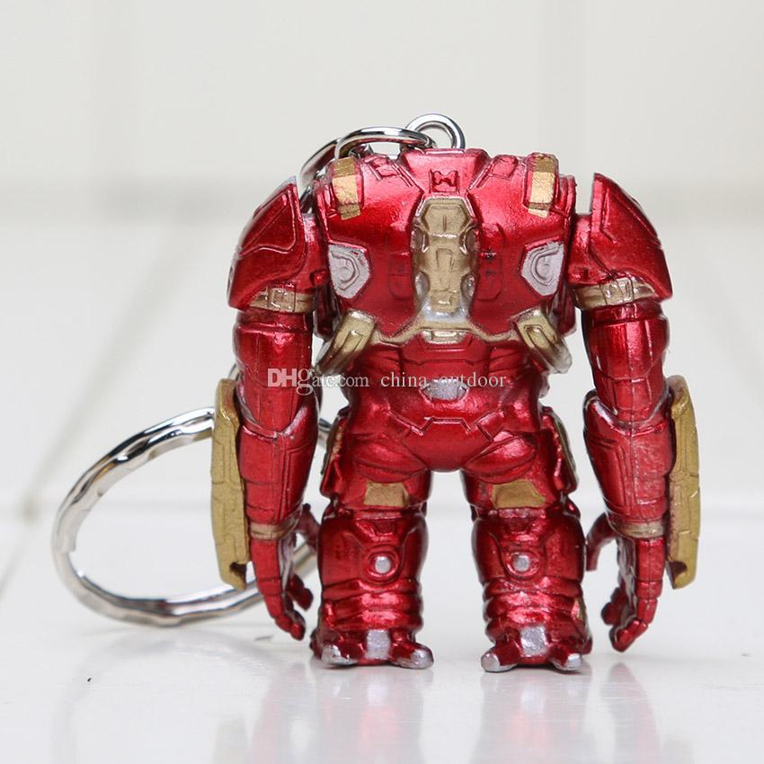 DHL The Avengers Age of Ultron HulkBuster PVC Figura de juguete llaveros Colgantes al por mayor