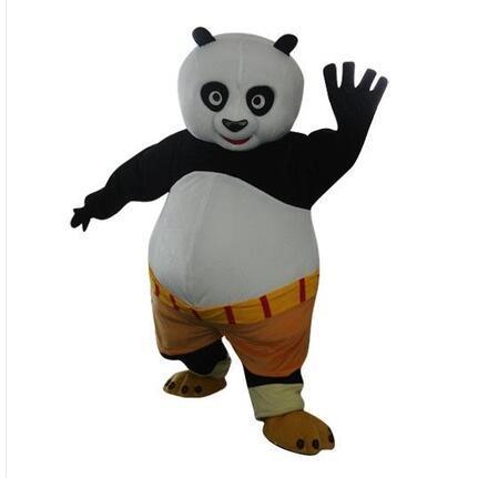 Vendi come torte calde stile kung Fu Panda costume della mascotte personaggio dei cartoni animati Costume formato adulto all'ingrosso e al dettaglio