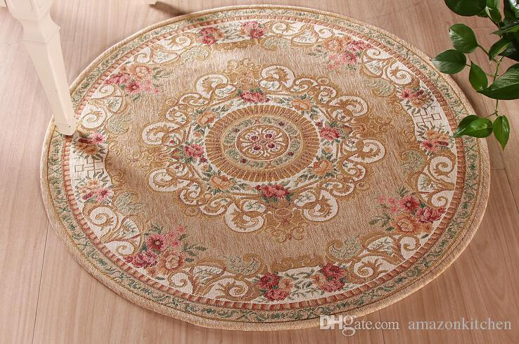 Classic Woven Round Carpets Mats Area Rugs Kitchen Living