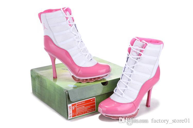 d5479d104913 ... 2015 Nike Air Jordan 11 XI Heels Womens J11 Basketball Shoes Womens Max  High Heel Shoe ...