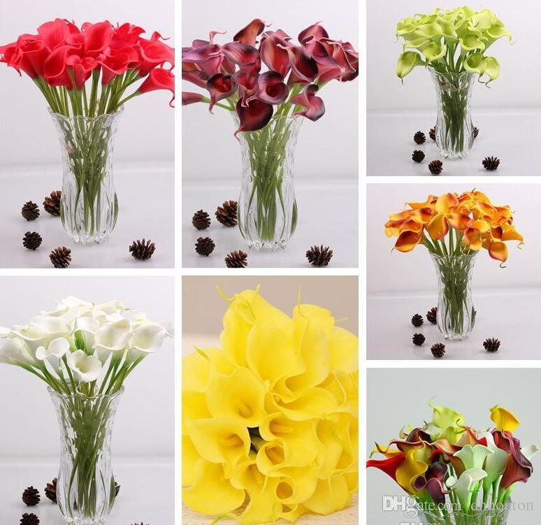 Mini Calla Lily For Wedding Bouquet Artificial Flower Real Touch For Home Wedding Party HP008