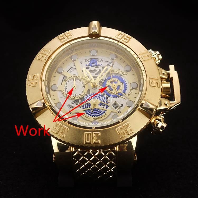c7149080a3a Compre De Alta Qualidade Marca Suíça Invicta Relojes Rotativo De Discagem  Esportes Ao Ar Livre Homens Assistir Marca De Luxo Relógio De Quartzo De  Silicone ...