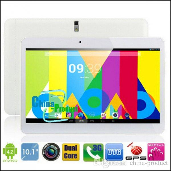 Nuevo Come Dual SIM Card Tablet PC de 10 pulgadas MTK6572 Dual Core 1GB 8GB Android 4.2 WCDMA 3G GSM Llamada telefónica Phablet 1024 * 600 Dual Camera 002471