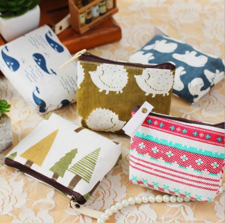 canvas Coin purse key holder wallet hasp small Christmas gifts bag clutch handbag