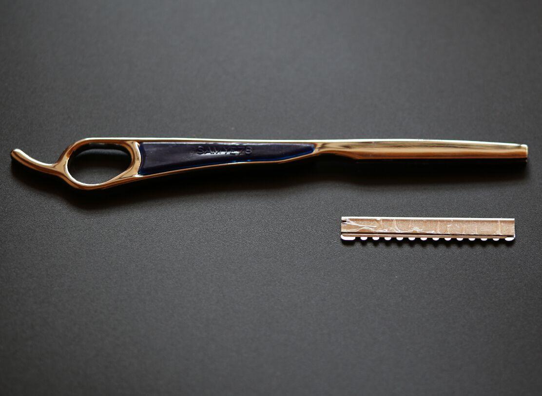 Frete grátis profissional cabelo fino faca navalha de cortar o meu cabelo navalha de barbear lâmina de espada raspagem + frete grátis