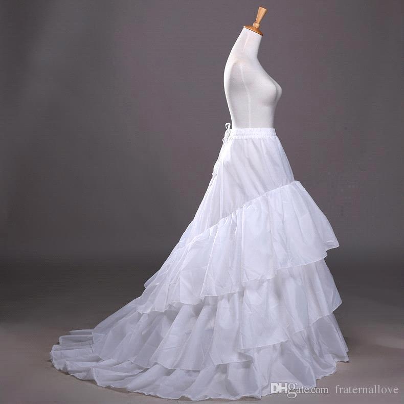 2016 New High Quality A Line Petticoats Crinoline Bridal 3 Hoop ...