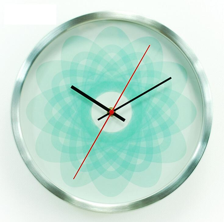 Flower Metal Wall Clock The Light Of Allusions Modern Wall Clocks