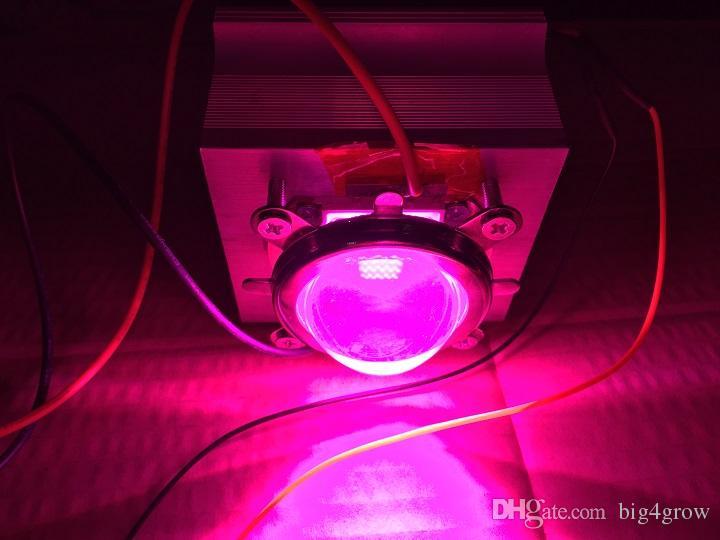 2017 nueva llegada 50W DIY kit de cultivo led, 50W 7band led crecer chip de luz + fuente de alimentación + disipador + ventilador de refrigeración con lentes ópticas Driver +