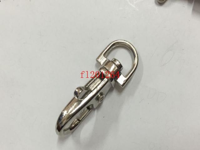 Freies Verschiffen 3,8 cm Vernickelt Schlüsselanhänger Karabiner Clips Clips Karabinerhaken Keychain Schlüsselring Metall Schlüsselhalter, 1000 teile / los
