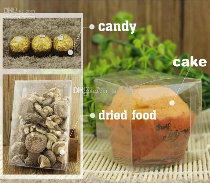 Top Quality 3x3x3 CM PVC Clear Package Box Square Plastic Containers Gift Box Candy Towel Cake Box