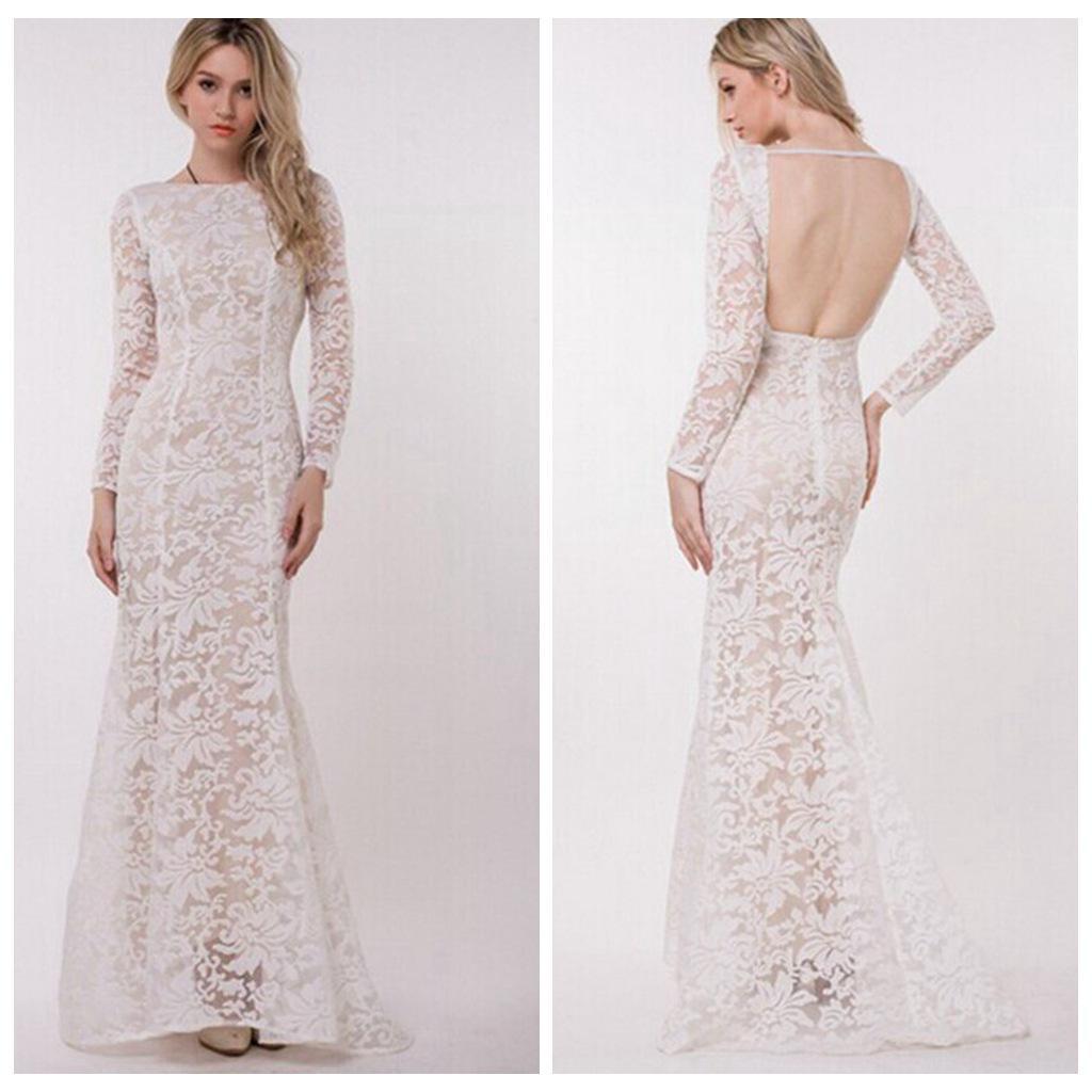 Großhandel Damen Abend Kleid Mesh Zurück Besonderen Anlass Kleid Für ...