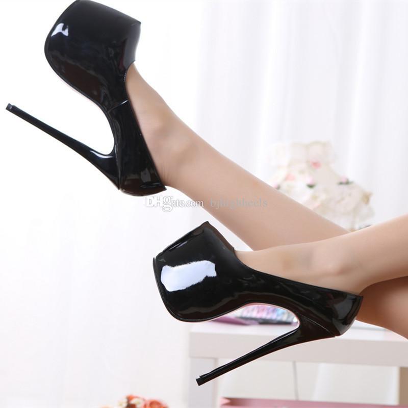 d03a3da5ae8 18CM Heel Height Sexy Round Toe Stiletto Heel Platform Party Shoes ...