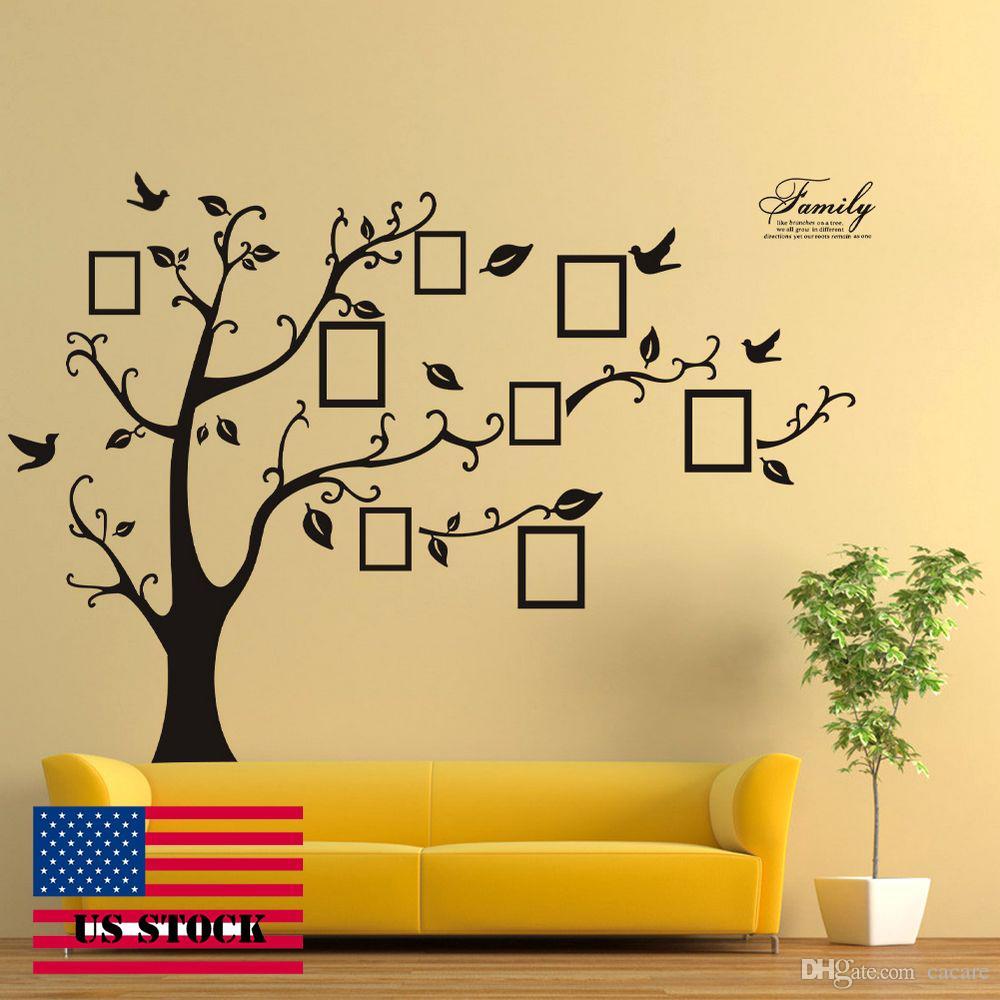 Wallstickers Diy Family Tree Wall Sticker Vinyl Wall Stickers Decal ...