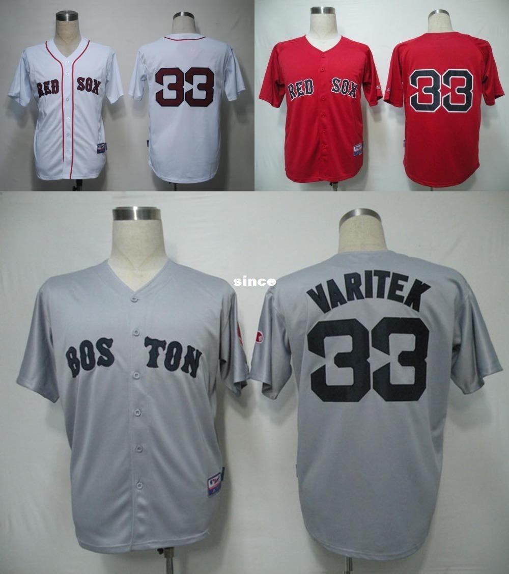 d5c65b7f ... 2017 30 Teams Cheap MenS Boston Red Sox Jersey 33 Jason Varitek  Baseball Jersey RedWhiteGrey, ...