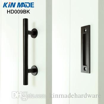 KIN MADE Black Stainless Steel Sliding Barn Door Handle Wood Door Flush  Pull Barn Door Flush Pull Door Pull Handles Black Stainless Steel Online  With ...