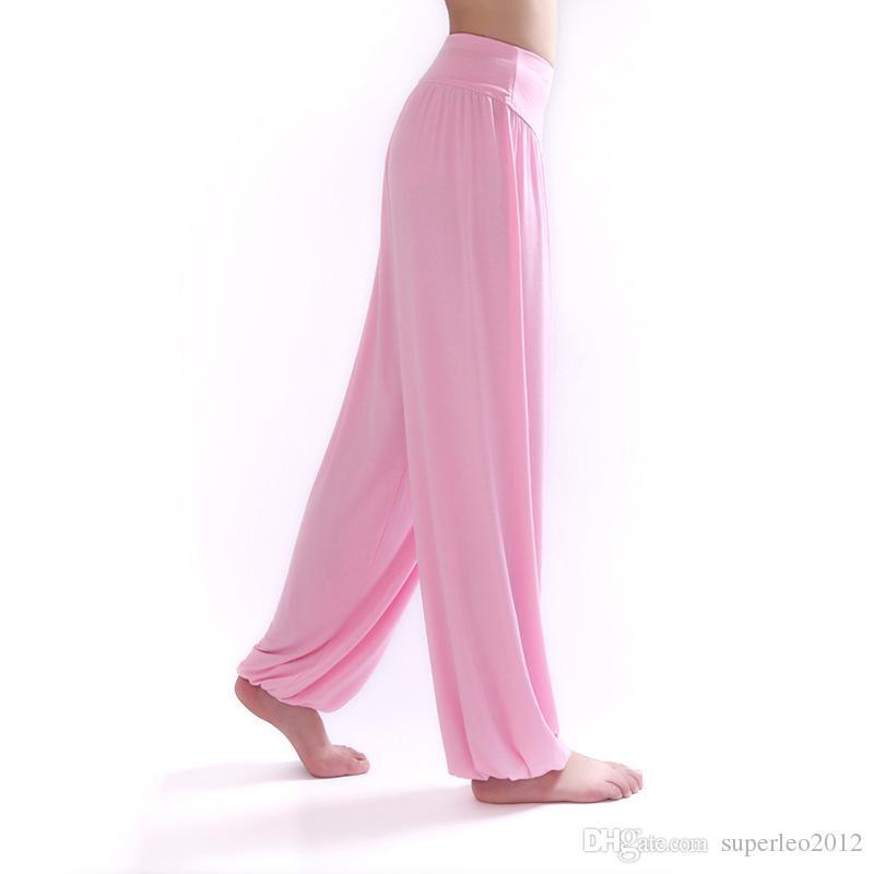 Mode vrouwen actieve broek elastische taille model katoen wijde been broek broek vrouwen zomer herfst losse lange broek