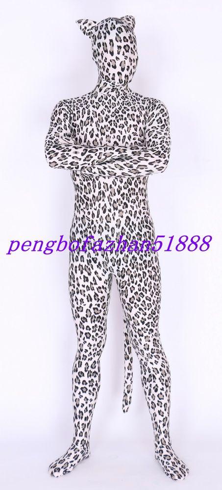 Unisex Leopar Kostümleri Kıyafet Renkli Lycra Spandex Fantezi Leopar Takım Catsuit Kostümleri Cadılar Bayramı Partisi Fantezi Elbise Cosplay ...