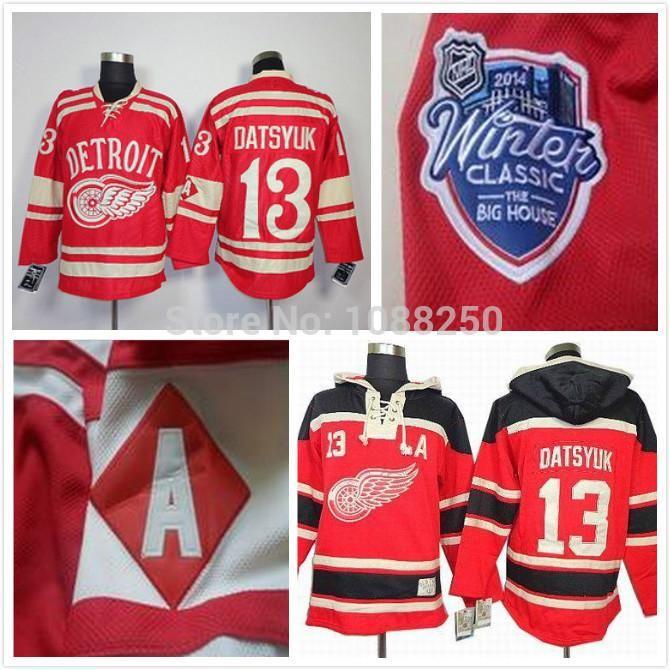 2019 Sweatshirt Pavel Datsyuk Winter Classic Jersey Detroit  13 Pavel  Datsyuk Ice Hockey Jersey Hooded Sweatshirt S XXL From Probowl c024ba03fe7