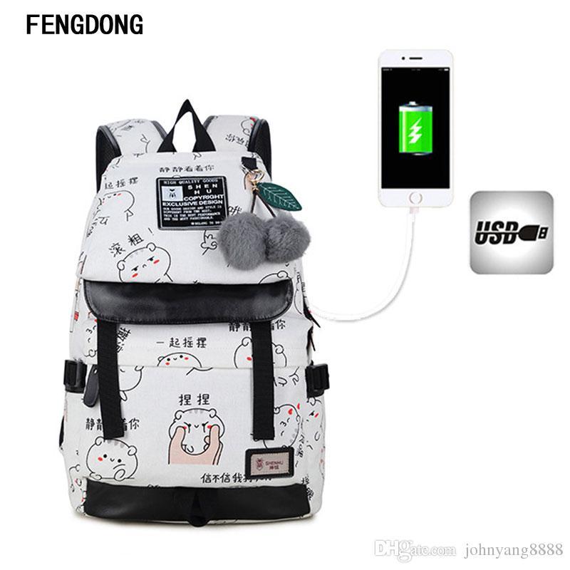 6c27b762b188 Fengdong Cute Lightweight Canvas Bookbags Water Resistant School Backpacks  Most Durable School Bag For Teenage Girls And Kids Shoulder Bags For Men  Men Bags ...