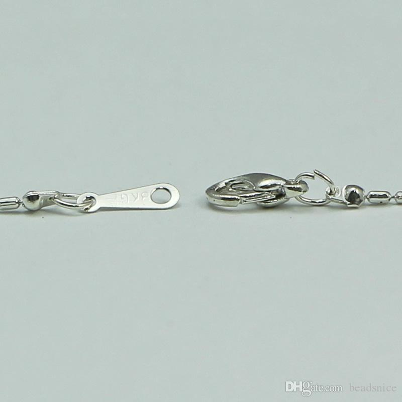 Beadsnice pirinç takı kolye moda zincir kolye gümüş kaplama içinde dostluk KIMLIĞI 29259 istakoz kapat kolye ile 17.5 inç