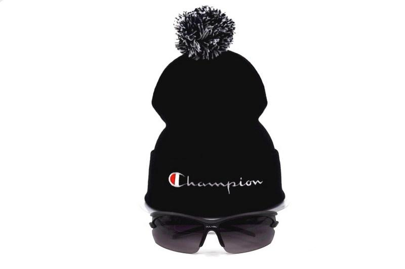 Champion Beanie Hats With Pom Knitted Sports Beanies Embroidered Winter Hat  Skull Caps Men Women Warm Wool Cap Fedora Hat Baseball Caps From Hat trick 51db1fbe633