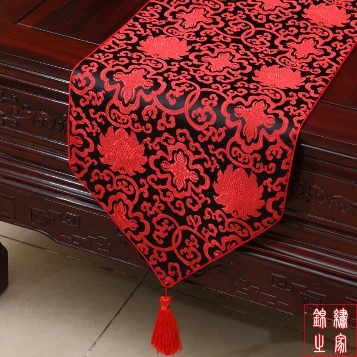 結婚式のダマスク織のための120インチのハイエンドの高級デコレーションテーブルランナーのランナーは、エンドテーブルクロス多色オプション