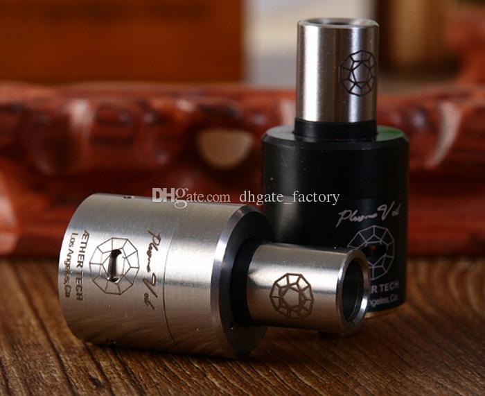 Plume peçe atomizer paslanmaz çelik siyah rebuildable rda buharlaştırıcı Plumeveil rba klonu mod VS magma mephisto kayfun e sigara