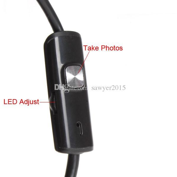 7 мм 6-светодиоды HD 1.3 MP Android USB эндоскоп IP67 водонепроницаемый мини-инспекционные камеры с 1 м 1.5 м 2 м кабель бороскоп видеокамера
