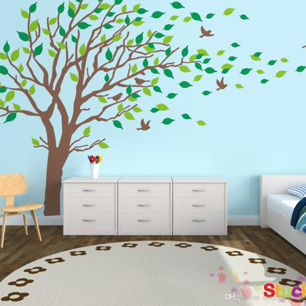 Extra Large Tree Wall Art Mural Decal Sticker Living Room Bedroom Background Wall Decoration Graphic Removable Transfer PVC Wall Applique