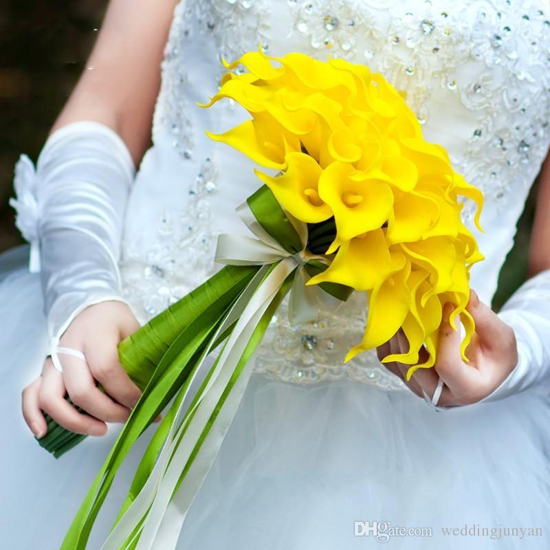 Hot Sale Wholesale White Color Flowers Calla Lily Bridal Wedding ...