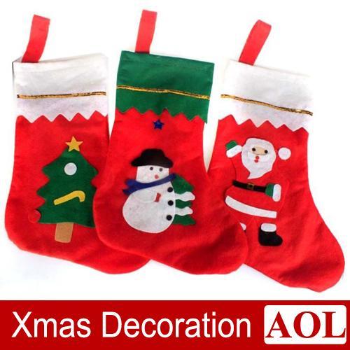 35x25cm big size christmas stockings gifts bags cotton santa socks snowman tree candy bag xmas home party decorations christmas stockings christmas - Big Stockings For Christmas