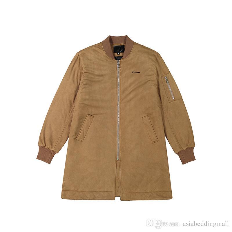 più recente c6b23 994b5 via principale Europa strada lungo oltre taglia giacca Hip Hop Suit  Pullover Winter Jacket uomini cappotto moda uomo Casual