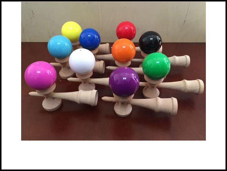 18.5 CM большой размер kendama бал японской традиционной древесины игры игрушка образование подарок случайных цветов новинка игры игрушки подарок J071502# DHL по бесплатная доставка
