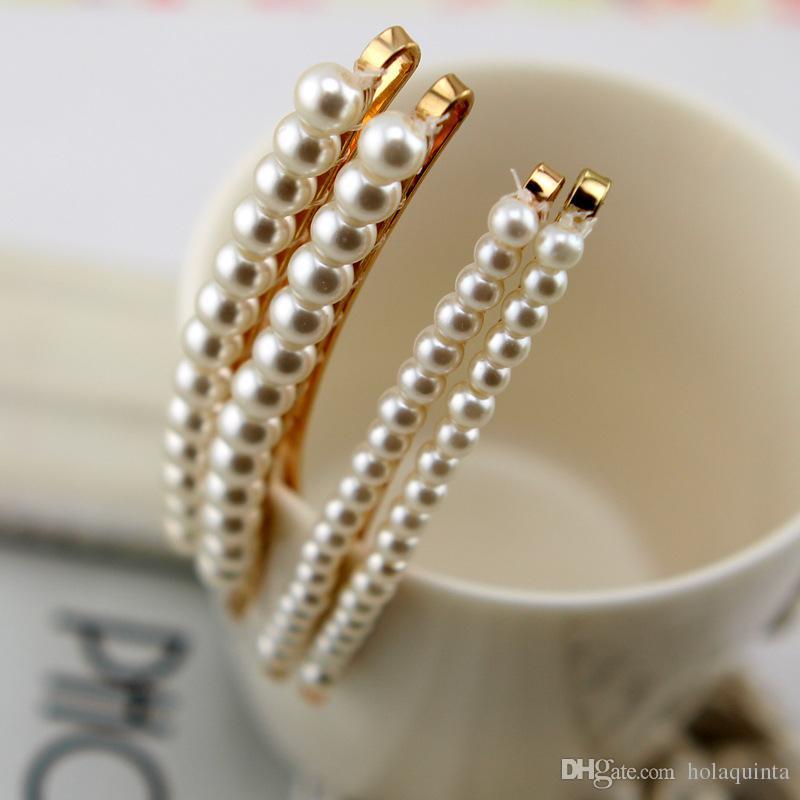acessórios do cabelo do grampo da pérola dos cristais de rocha para os pinos de cabelo das mulheres para casamentos