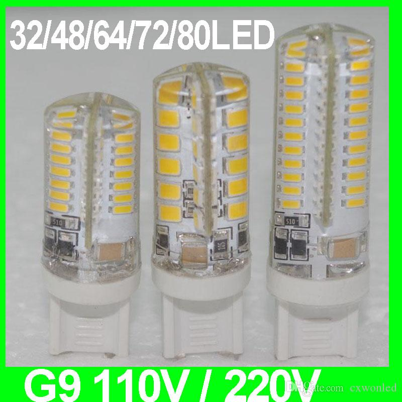 silicon G9 led AC 110V 220V SMD2835 3W 4W 5W LED Lamp Warm Cool White Spotlight Bulb